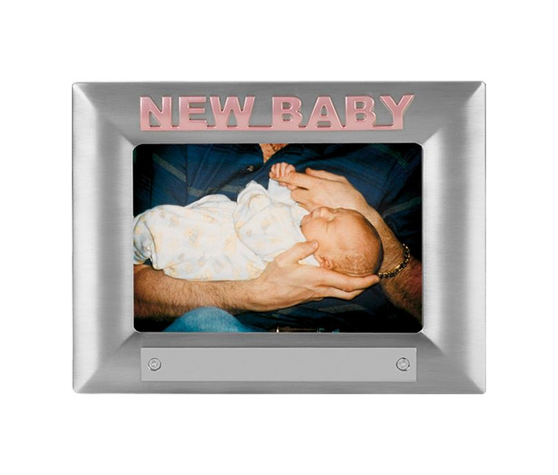 New Baby Pink Satin Finish Photo Frame 18cm x 13.5cm