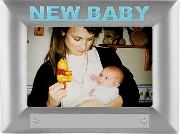 New Baby Blue Satin Finish Photo Frame 18cm x 13.5cm
