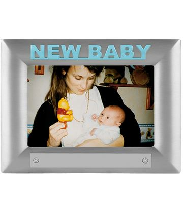 New Baby Blue Satin Finish Photo Frame 18cm x 13.5cm