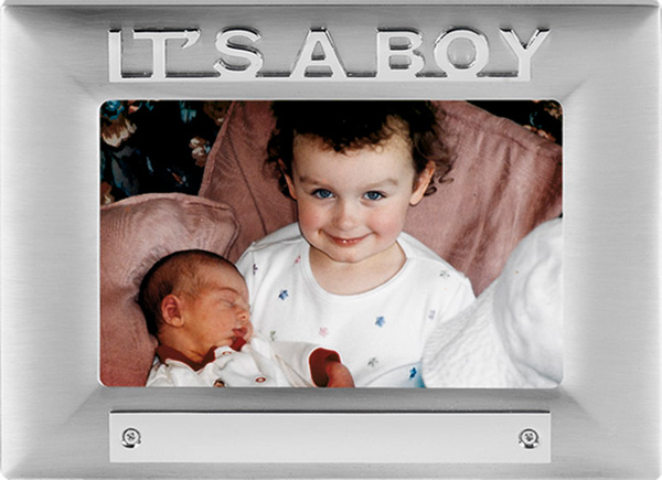 It's a Boy Satin Finish Photo Frame 18cm x 13.5cm
