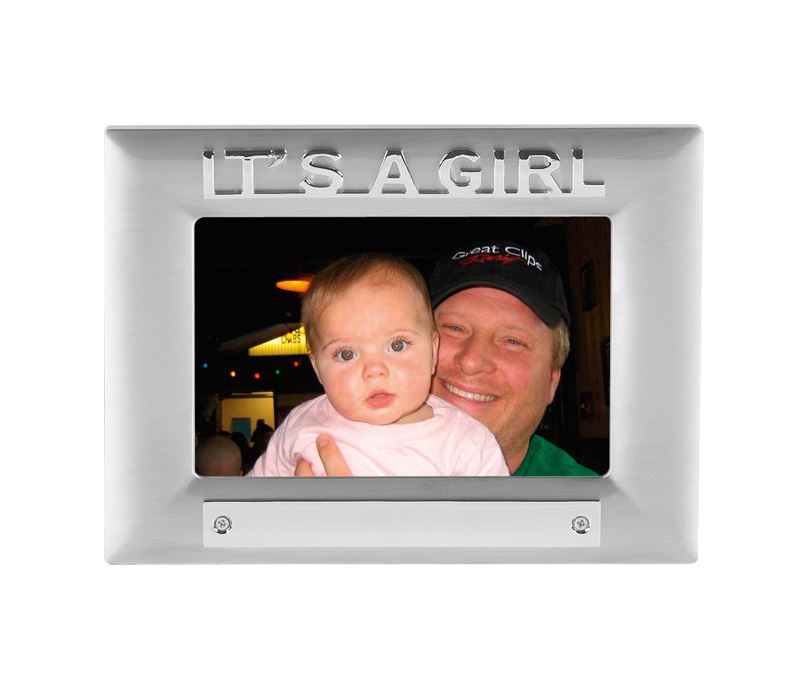 It's a Girl Satin Finish Photo Frame 18cm x 13.5cm