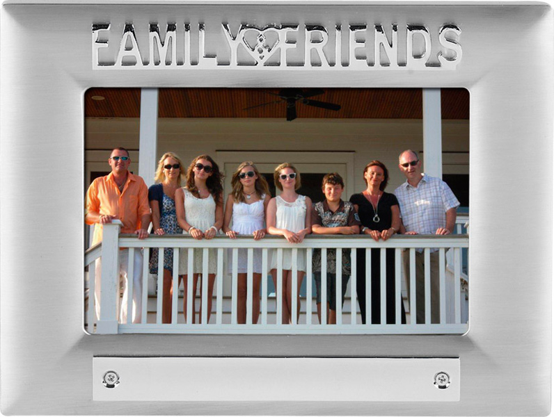 Silver Satin Finish Family Friends Photo Frame 18cm x 13.5cm