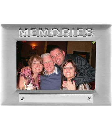 Silver Satin Finish Memories Photo Frame 18cm x 13.5cm