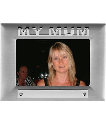 Silver Satin Finish My Mum Photo Frame 18cm x 13.5cm