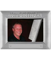 Silver Satin Finish 40th Birthday Photo Frame 18cm x 13.5cm