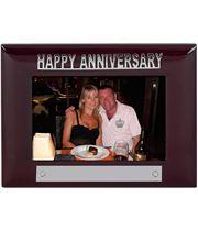 Mahogany Finish Happy Anniversary Photo Frame 18cm x 13.5cm