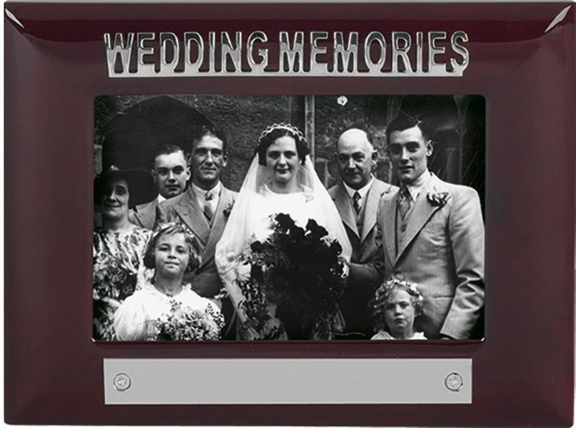 Mahogany Finish Wedding Memories Photo Frame 18cm x 13.5cm