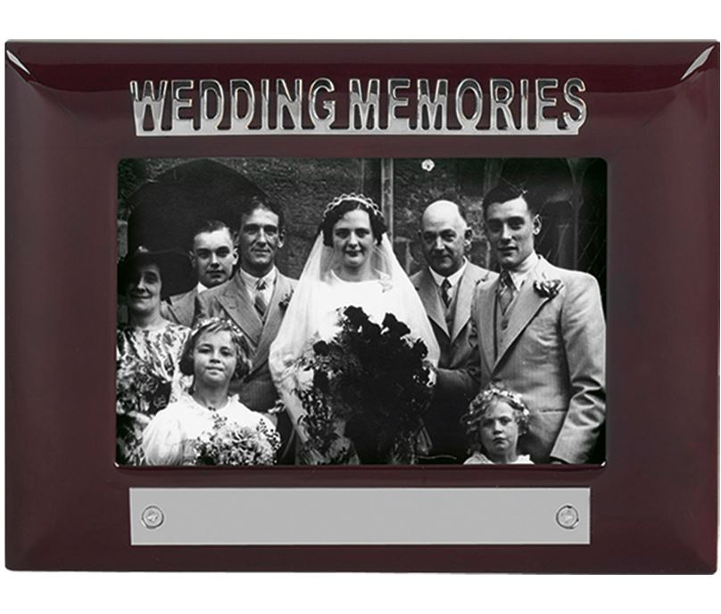 Mahogany Finish Wedding Memories Photo Frame 18cm x 13.5cm
