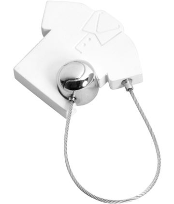 "White Satin Finish Tennis Shirt & Ball Keyring 5cm (2"")"