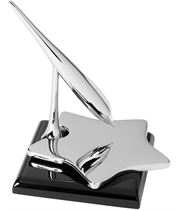 """Star Shaped Business Card Holder with Spinning Pen 9.5cm (3.75"""")"""