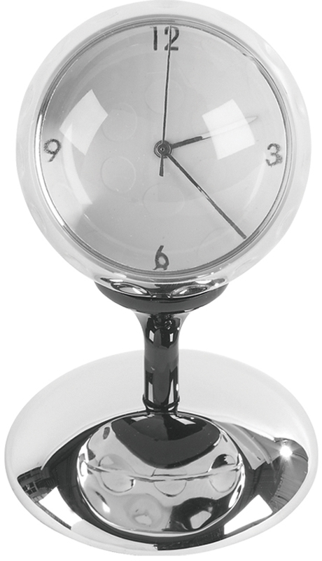 "Silver Metal Golf Ball Clock on Tee 9cm (3.5"")"