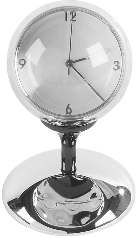 "Silver Metal Golf Ball Clock on Tee 9cm (3.5"")"