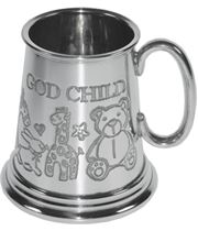 "1/4pt God Child Sheffield Pewter Tankard 7.5cm (3"")"