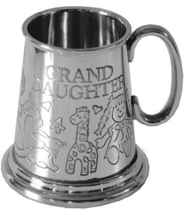 "1/4pt Grand Daughter Sheffield Pewter Tankard 7.5cm (3"")"