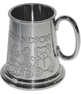 "1/4pt Grandson Sheffield Pewter Tankard 7.5cm (3"")"