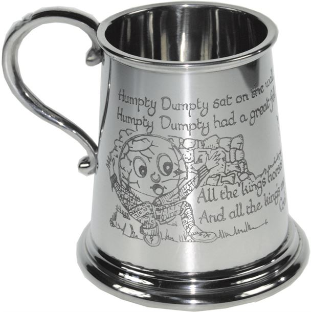 "1/4pt Humpty Dumpty Children's Sheffield Pewter Tankard 7.5cm (3"")"