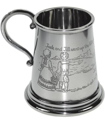 "1/4pt Jack & Jill Children's Sheffield Pewter Tankard 7.5cm (3"")"