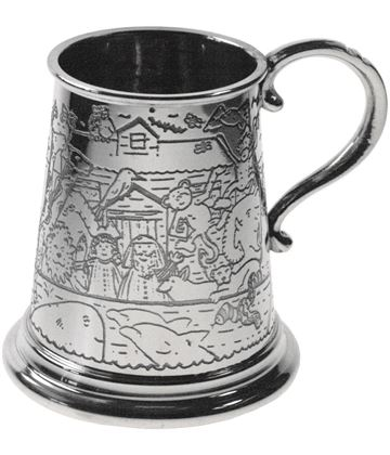 "1/4pt Noah's Ark Children's Sheffield Pewter Tankard 7.5cm (3"")"