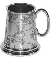 "1/4pt Teddy Bears Picnic Children's Sheffield Pewter Tankard 7.5cm (3"")"