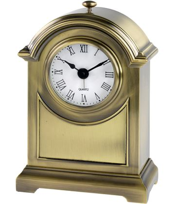 "Antique Brass Finish Arch Clock 16cm (6.25"")"