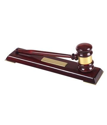 "High Quality Wooden Gavel Set 32cm (12.5"")"
