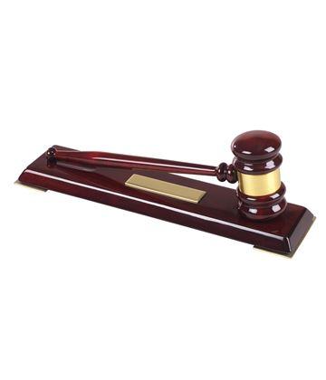 "High Quality Wooden Gavel Set 32cm (12.5"")"