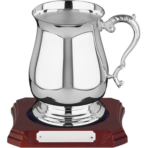 Georgian Silver Plated Tankard 0.5 pint