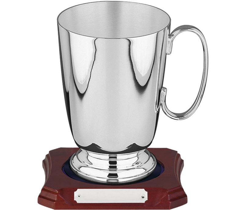 Silver Plated Straight Sided Tankard 1 Pint