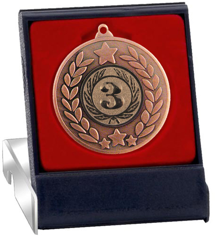 "Bronze Stars & Laurel Wreath Medal in Presentation Box 50mm (2"")"