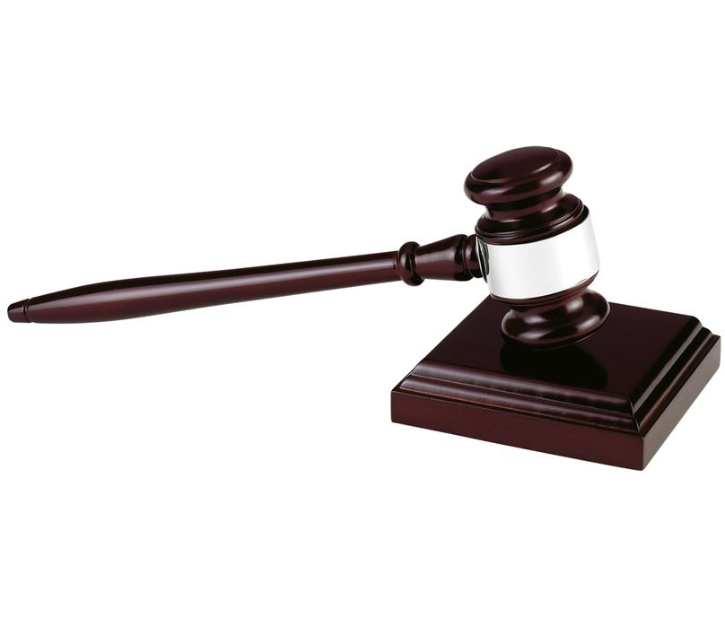 """Long Wooden Gavel with Block 27.5cm (10.75"""")"""
