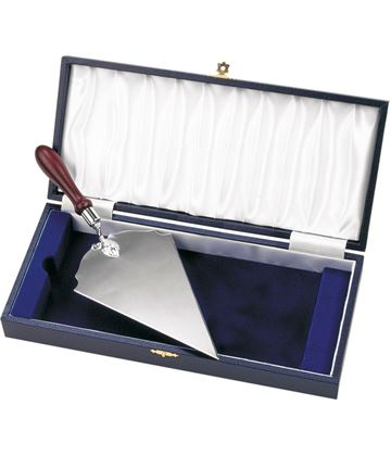 "Cased Long Silver Plated Trowel 26.5cm (10.5"")"