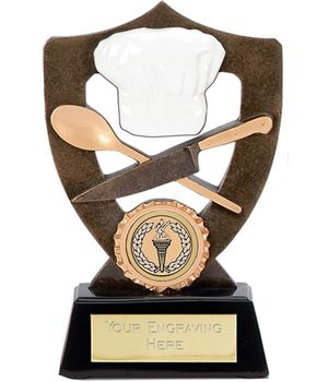 "Cooking Trophy with Chefs Hat 17cm (6.75"")"