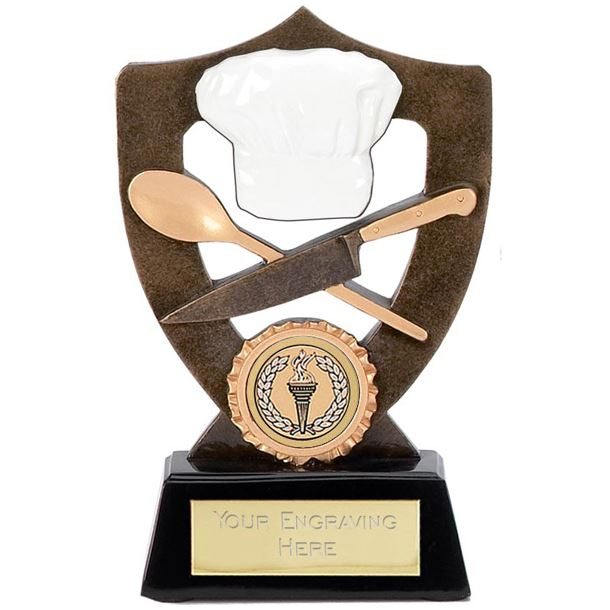 """Cooking Trophy with Chefs Hat 17cm (6.75"""")"""