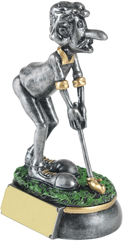 "Antique Silver Golf Pro Novelty Golf Trophy 12cm (4.75"")"