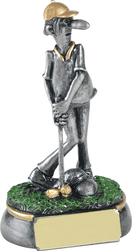 "Antique Silver Mr Mulligan Novelty Golf Trophy 12.5cm (5"")"