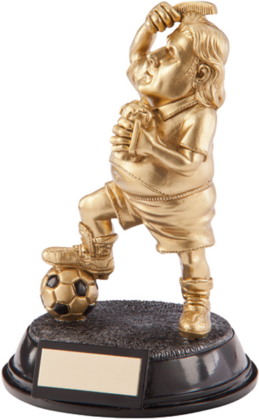 """Gold Resin Outrageous Beer Bellies Poser Trophy 16.5cm (6.5"""")"""