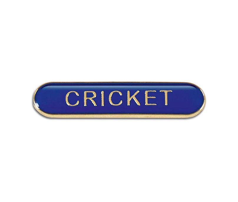 Blue Cricket Lapel Bar Badge 40mm x 8mm
