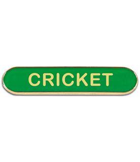 Green Cricket Lapel Bar Badge 40mm x 8mm