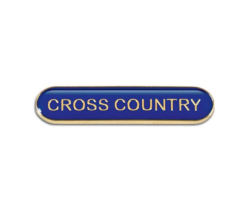 Blue Cross Country Lapel Bar Badge 40mm x 8mm