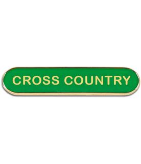 Green Cross Country Lapel Bar Badge 40mm x 8mm