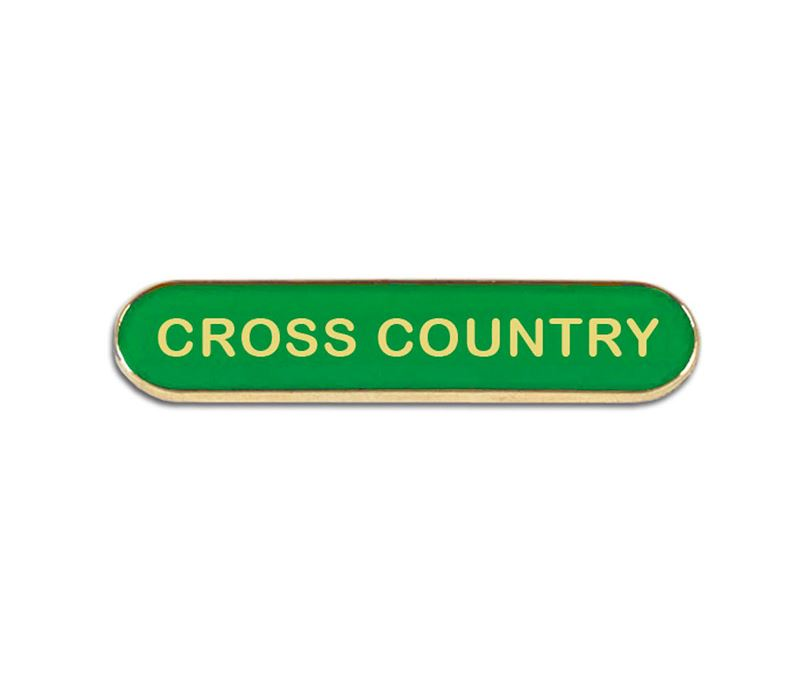 Green Cross Country Lapel Bar Badge 40mm x 8mm