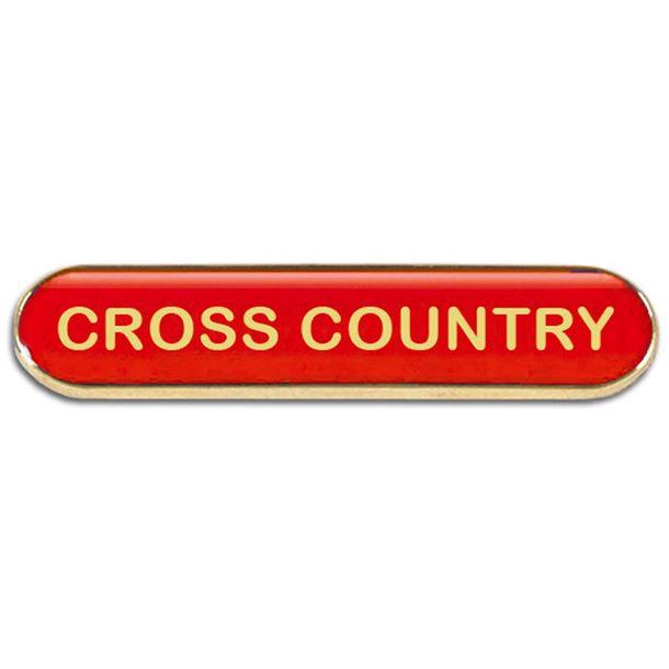 Red Cross Country Lapel Bar Badge 40mm x 8mm