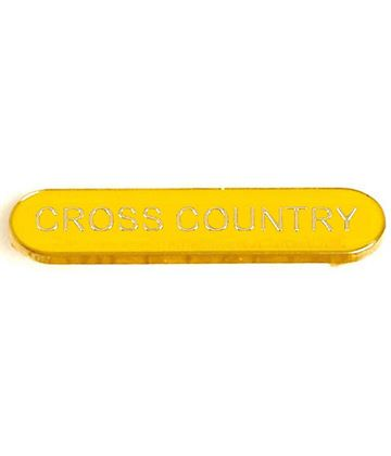 Yellow Cross Country Lapel Bar Badge 40mm x 8mm
