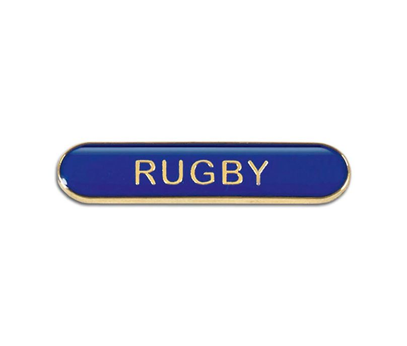 Blue Rugby Lapel Bar Badge 40mm x 8mm