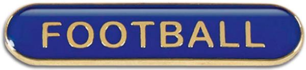 Blue Football Lapel Bar Badge 40mm x 8mm