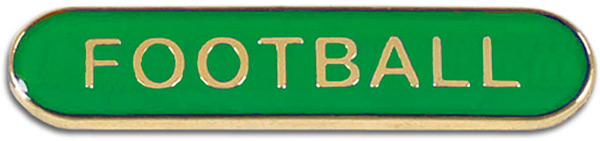 Green Football Lapel Bar Badge 40mm x 8mm