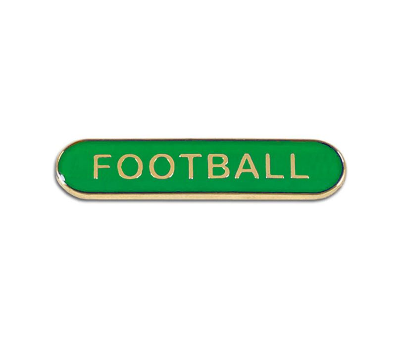 Green Football Lapel Bar Badge 40mm x 8mm