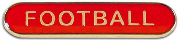 Red Football Lapel Bar Badge 40mm x 8mm