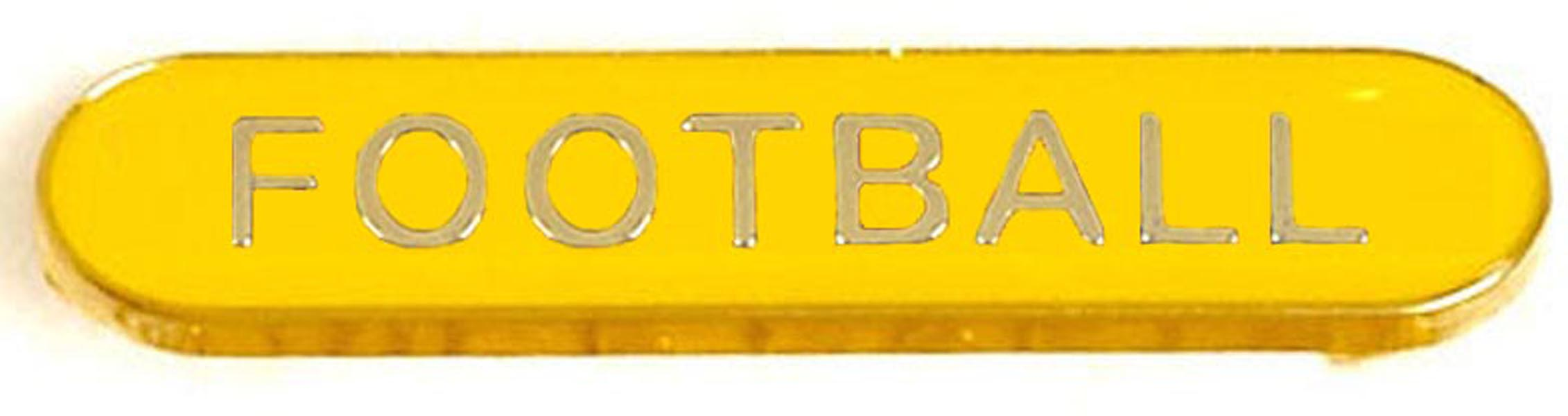 Yellow Football Lapel Bar Badge 40mm x 8mm