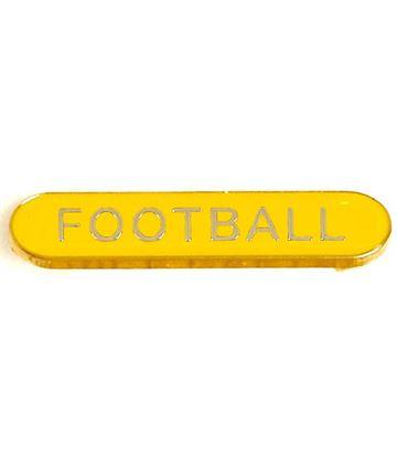 Yellow Football Lapel Bar Badge 40mm x 8mm